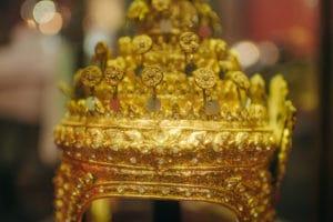 Het mooie Thaise interieur bij de Kooning van Siam in Amsterdam