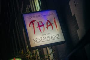Het bord van de Kooning van Siam Thai restaurant