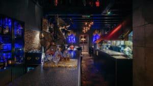 De onderverdieping van het Thaise restaurant in Amsterdam